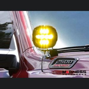Dodge Ram 2500/ 3500 A-Pillar LED Light Mounts - RIGID