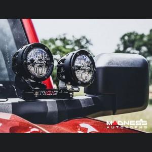 Ford Bronco Dual LED Pod A-Pillar Mount Kit - Rigid