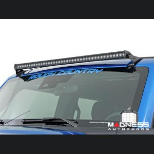 """Ford Bronco Windshield Light Bar Kit by Rough Country - 40"""" Single Row LED"""