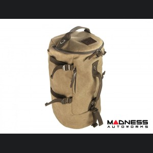 Jeep Backpack - Canvas Duffle Bag With Shoulder Straps