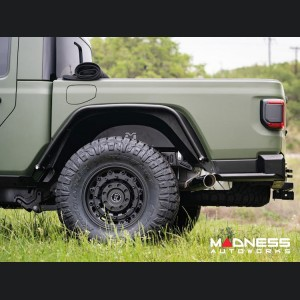 Jeep Gladiator Vented Replacement Inner Fender Well - Aluminum - Black Powdercoat - Rear