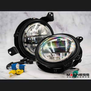 "Jeep Gladiator JT Headlights - LED w/ adaptors - Black Housing - 7"""