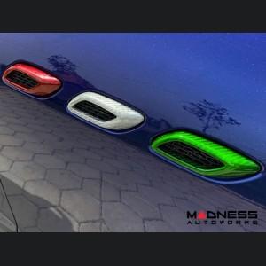 Maserati Levante Fender Vents Cover - Carbon Fiber - Italian Flag