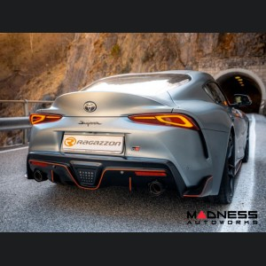 Toyota Supra Performance Axle Back Exhaust - Ragazzon - Top Line - Electric Valves - Round Polished Tips