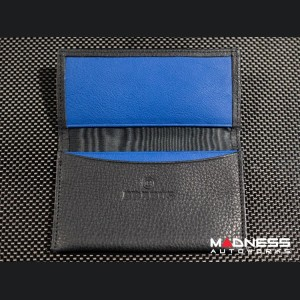 Business Card Holder - Leather with BRABUS Logo - Blue interior