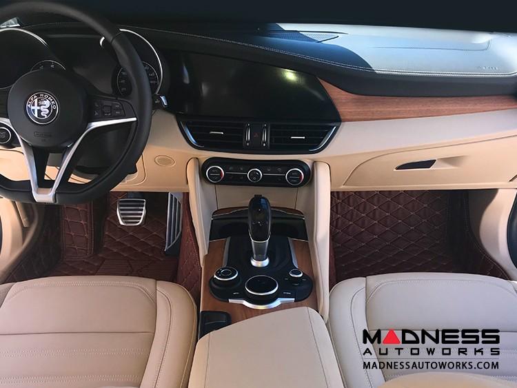 Alfa Romeo Giulia Floor Liner Set - Chocolate Brown - QV/ Quadrifoglio