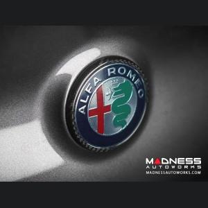 Alfa Romeo Stelvio Carbon Fiber Rear Emblem Frame Trim