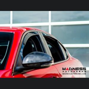 Alfa Romeo Giulia Side Window Air Deflectors - Front/ Rear 4 Piece Set - Mini Deflectors