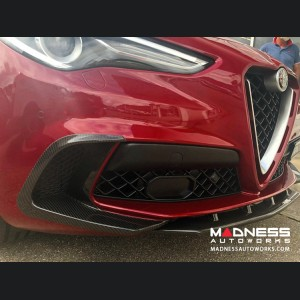 Alfa Romeo Stelvio Carbon Fiber Front Bumper Flaps -