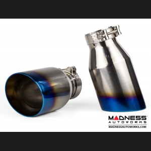 Alfa Romeo Giulia Performance Exhaust - 2.0L - MADNESS - Monza - Blue Flame Tips
