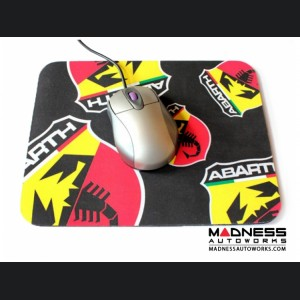 Neoprene Mouse Pad with ABARTH Logos