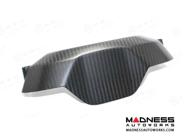 Alfa Romeo 4C Carbon Fiber Backside Instrument Gauge Cover - Matte Finish