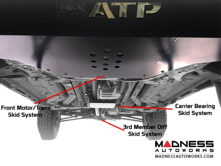 Jeep Compass Under Body Protection Combo Motor/Trans/Diff Skid Plate by ATP