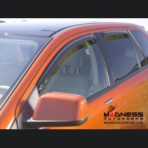 Jeep Compass Side Window Air Deflectors - Smoke - 4pc - by AVS