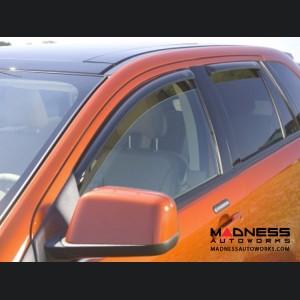 Jeep Compass Side Window Air Deflectors - Smoke - 4pc - by AVS