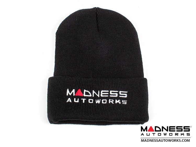 MADNESS Autoworks Beanie - Black w/ MADNESS Autoworks Logo