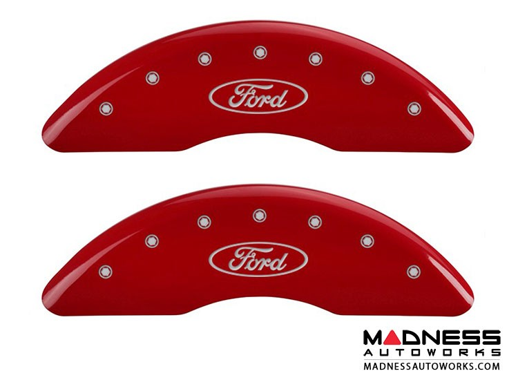 Ford F-250 Super Duty 2014 - Ford Logo - Caliper Covers by MGP - Red