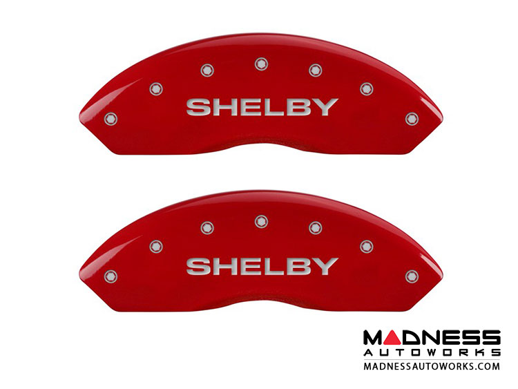 Ford Mustang 2011-2014 - Shelby Logo - Caliper Covers by MGP - Red