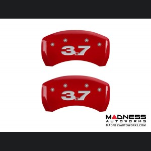 Ford Mustang 2011-2014 - 3.7 Logo - Caliper Covers by MGP - Red
