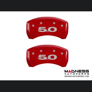 Ford Mustang 2011-2014 - 5.0 Logo - Caliper Covers by MGP - Red