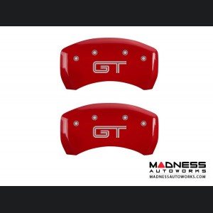 Ford Mustang 2011-2014 - GT Logo - Caliper Covers by MGP - Red