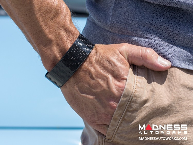 Carbon Fiber Bracelet - Wide Design