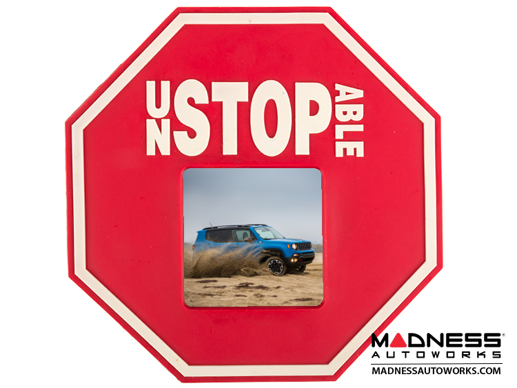 Jeep Renegade Magnetic Picture Frame - Stop Sign - Unstopable