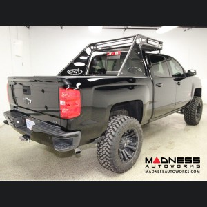 GMC Sierra 1500/ 2500/ 3500 Stealth Chase Rack by Addictive Desert Designs - With Angle Mount Spare Tire Carrier