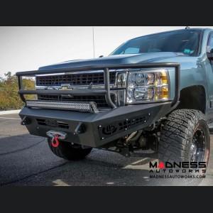 Chevrolet 2500/ 3500 Honey Badger Rancher Front Bumper w/ Winch Mount by Addictive Desert Designs - 2015+