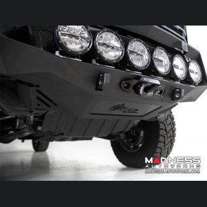GMC Sierra 2500 Bomber Front Bumper w/ 6 Rigid 360 Round LED Lights