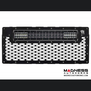 "Jeep Wrangler JK Grille w/ 20"" LED Light Bar Mount by Rigid Industries"