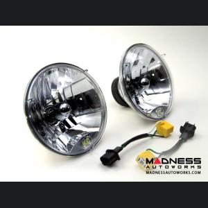 "Jeep Wrangler JK 7"" Headlights by Addictive Desert Designs - Round/ Clear - 55/ 60 Watt"