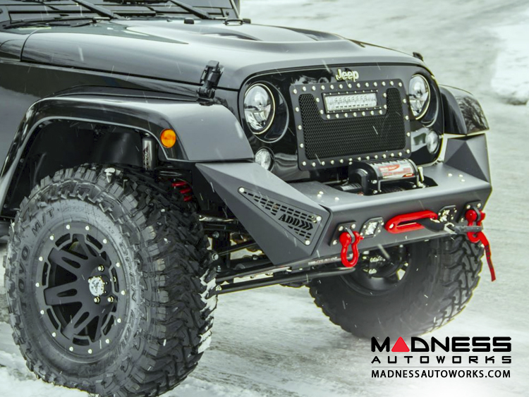 Austin Auto Parts >> Jeep - Jeep Wrangler JK Stealth Fighter Front Bumper Center w/ Tow Hooks by Addictive Desert ...