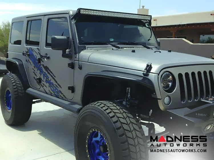 Jeep Wrangler JK Stealth Fighter Side Steps by Addictive Desert Designs - 2 Door - 2007+