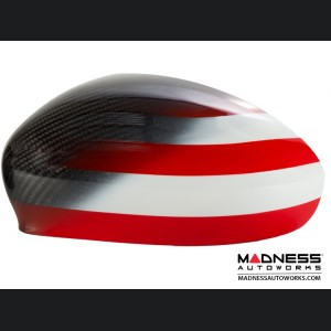 Alfa Romeo 4C Carbon Fiber Mirror Covers - American Flag