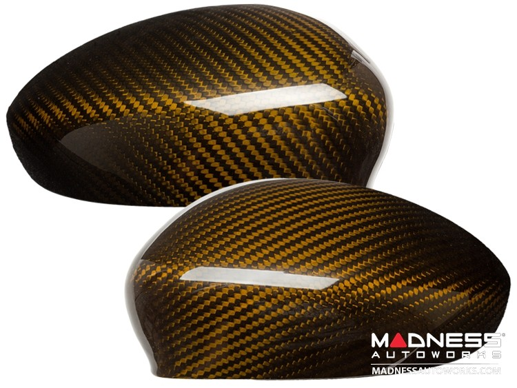 Alfa Romeo 4C Carbon Fiber Mirror Covers - Gold