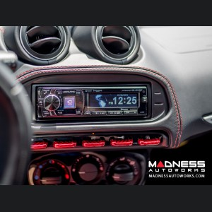 Alfa Romeo 4C Carbon Fiber Center Console Switch Bank Trim Set - Red