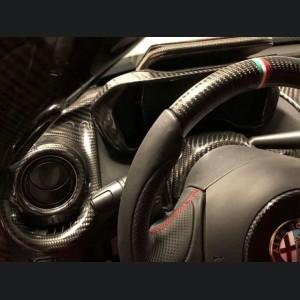 Alfa Romeo 4C Carbon Fiber A/C Vent Trim Set - Coupe