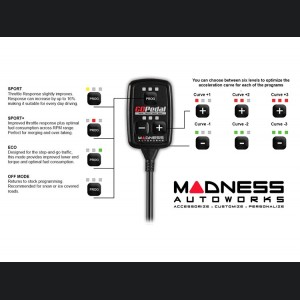 Jeep Wrangler JL 3.6L Throttle Controller - MADNESS GOPedal - Bluetooth