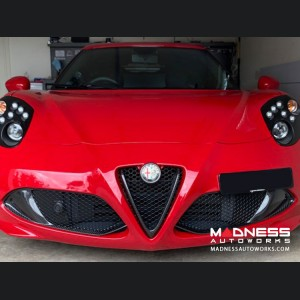 Alfa Romeo 4C Carbon Fiber Front Grille Insert Trim Set
