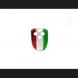 Alfa Romeo 4C Central MTA Control Cover - Carbon Fiber - Italian Flag