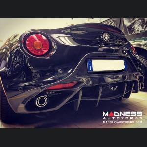 Alfa Romeo 4C Rear Diffuser Flap Deflector - Carbon Fiber - Matte