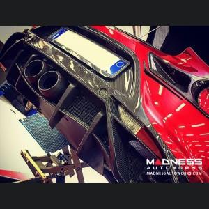 Alfa Romeo 4C Carbon Fiber Rear Diffuser Flap Deflector - Matte