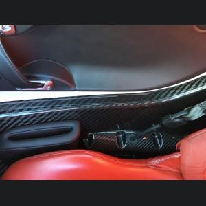 Alfa Romeo 4C Carbon Fiber Seat Belt Trim Set