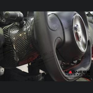 Alfa Romeo 4C Carbon Fiber Steering Wheel Shroud Trim Set (No Cruise Control)