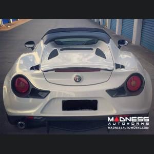 Alfa Romeo 4C Carbon Fiber Tail Light Trim Set - 488 Ferrari Style