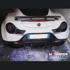 Alfa Romeo 4C Carbon Fiber Tail Light Trim Set - 488 Ferrari Style