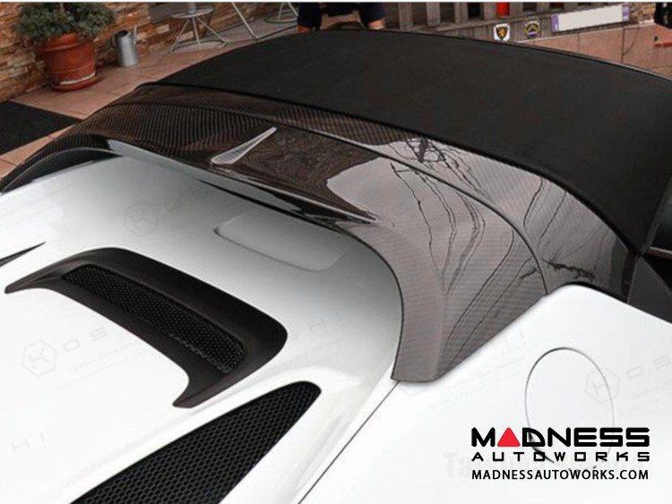 Alfa Romeo 4C Carbon Fiber Roll Bar + Spoiler Cover Set