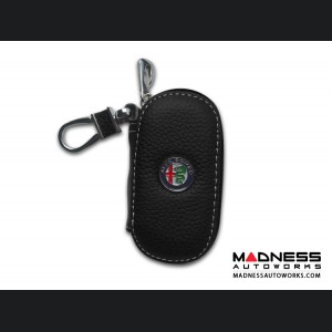 Keychain/ Key Holder - Alfa Romeo - Black w/ Alfa Romeo Logo