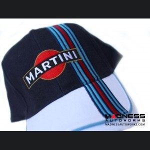 Cap - Martini Racing - Navy Blue/ White w/ Racing Stripe